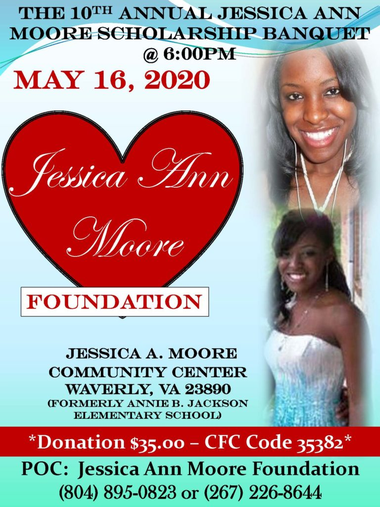 2020 Jessica Ann Moore Scholarship Banquet